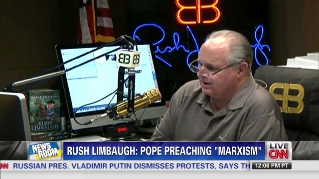 News video: Rush Limbaugh: Pope is a Marxist